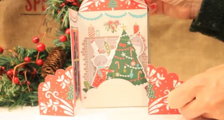 Handmade christmas greeting card