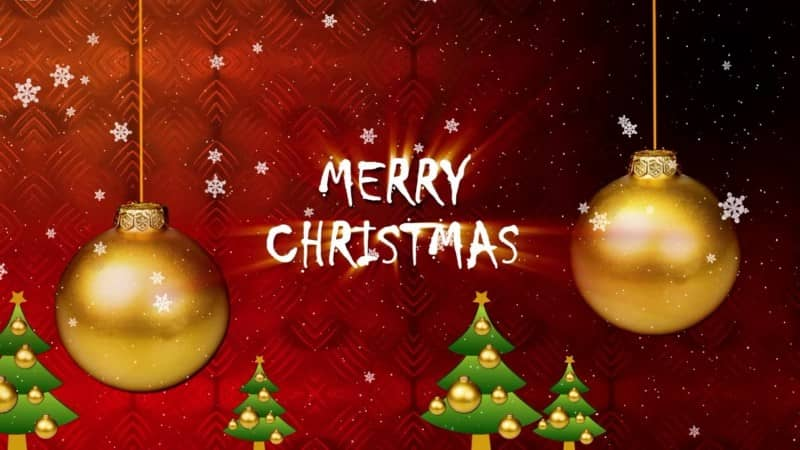 merry christmas greetings animated