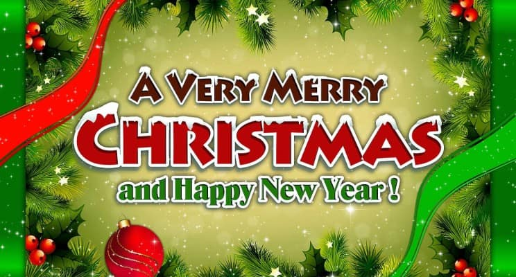merry christmas and happy new year 2019 images