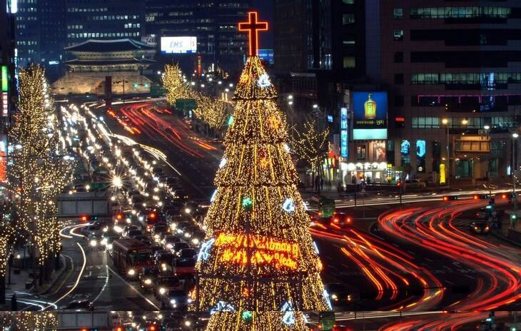 Christmas Celebration in the South Korea