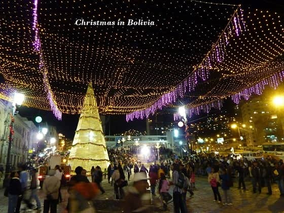 Christmas decorations in La Paz (2)