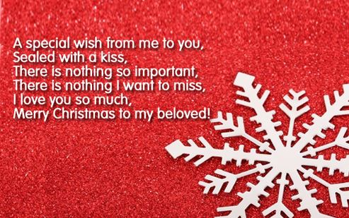 Christmas greetings For Girlfriend