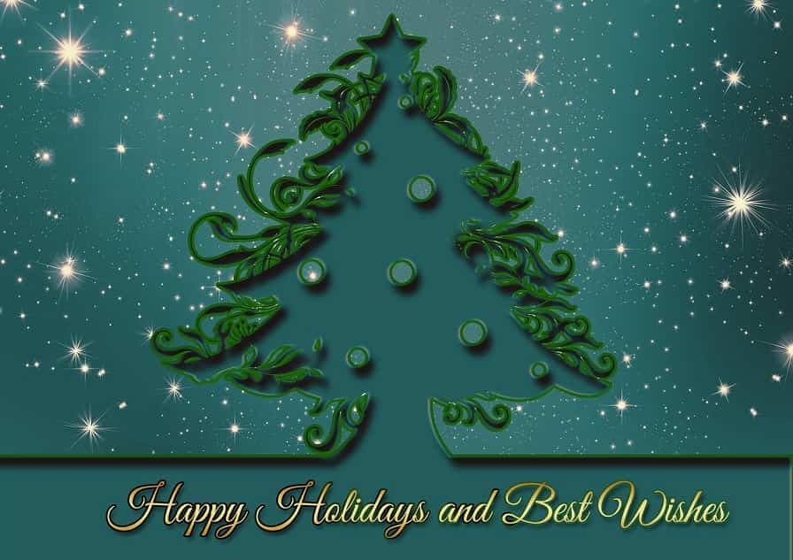 happy holidays and best Christmas wishes