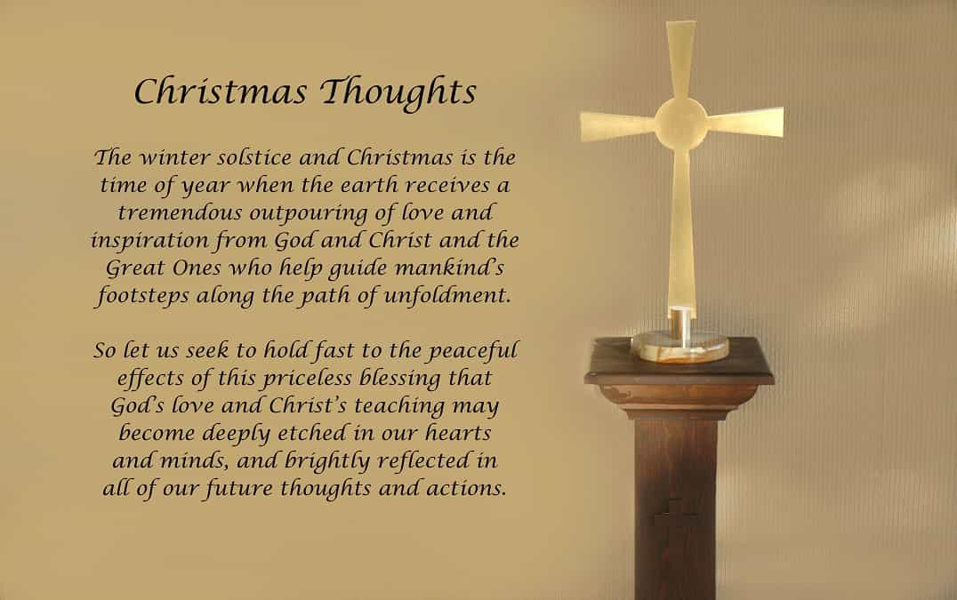 christmas thoughts about jesus
