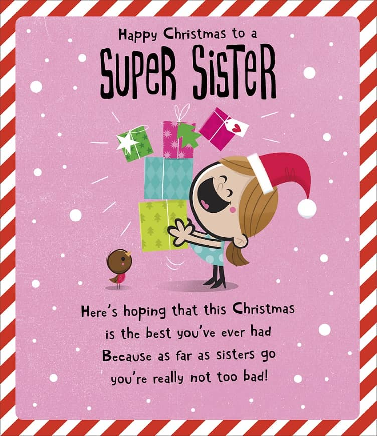 merry christmas 2018 wishes for sister