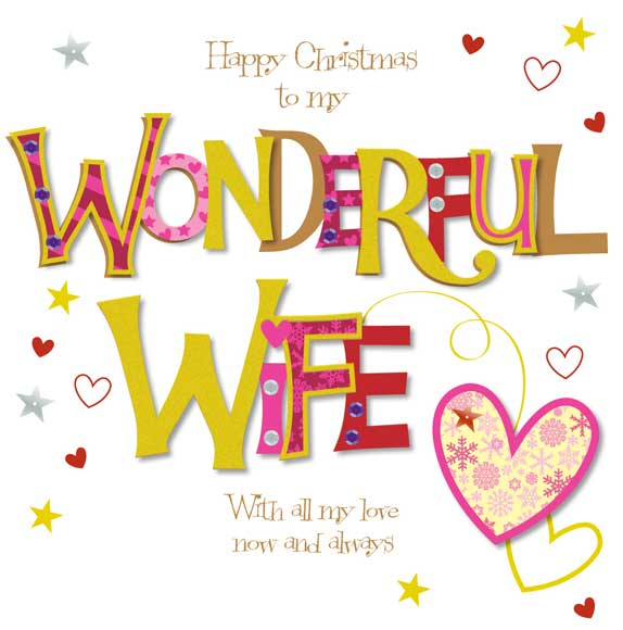 Merry Christmas Greetings for Wife