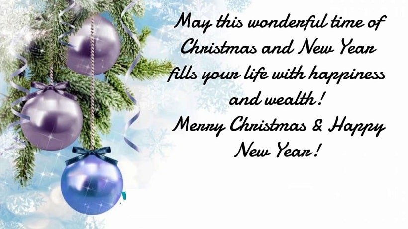merry christmas and happy new year 2019 wishes